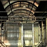Abandoned Building. 3D Render of an Abandoned Building stock illustration