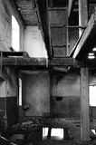 Abandoned building in black and white Stock Photography