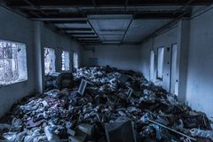 Abandoned, Building, Broken Royalty Free Stock Photography