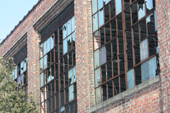 Abandoned Building. With broken windows stock photo
