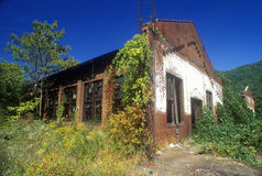 Abandoned building with broken windows on Highway US Route 60,WVA Royalty Free Stock Photos
