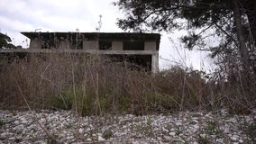 Abandoned Building in Bush stock video footage
