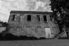 Abandoned Building in Cangas - Galicia - Spain. An old abandoned building in black and white Cangas - Spain Royalty Free Stock Photos