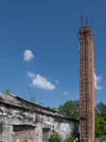 Abandoned building and chimney. Photos taken outside the city Stock Image