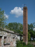 Abandoned building and chimney scene 3. Photos taken outside the city Royalty Free Stock Images