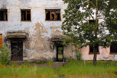 Abandoned building entrance outback of Russia Stock Photos