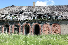 Abandoned building facade. The abandoned building facade alone Royalty Free Stock Photo