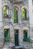 Abandoned building facade. In the city center of Dnipropetrovsk city Stock Photography