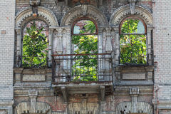 Abandoned building facade. In the city center of Dnipropetrovsk city Royalty Free Stock Images
