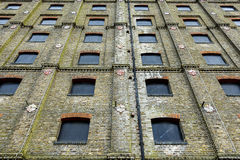 Abandoned Building Facade Royalty Free Stock Photos