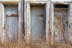 Abandoned building facade Stock Photography