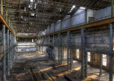 Abandoned building in a factory Royalty Free Stock Photography