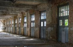 Abandoned building in a factory Stock Image