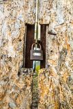 Padlock on a gate royalty free stock photos