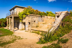 Abandoned building at Fort Williams Park, in Cape Elizabeth, Mai Stock Photo