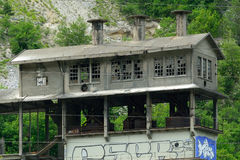 Abandoned building, France Royalty Free Stock Images
