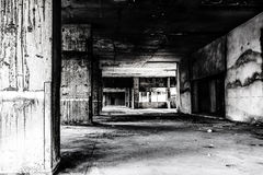 Abandoned building ghost living place Royalty Free Stock Image