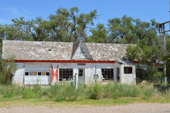 Abandoned Building. This is an abandoned building in Glenrio which is on the border of Texas and New Mexico. I took this photo on the Historic Route 66 heading Stock Images