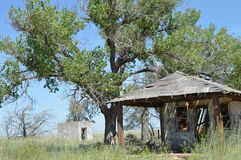 Abandoned Building. This is an abandoned building in Glenrio which is on the border of Texas and New Mexico. I took this photo on the Historic Route 66 heading Royalty Free Stock Photo