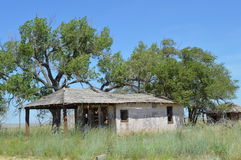Abandoned Building. This is an abandoned building in Glenrio which is on the border of Texas and New Mexico. I took this photo on the Historic Route 66 heading Royalty Free Stock Images