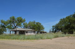 Abandoned Building. This is an abandoned building in Glenrio which is on the border of Texas and New Mexico. I took this photo on the Historic Route 66 heading Royalty Free Stock Photography