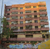 Abandoned building and graffiti Royalty Free Stock Photo