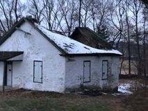 Abandoned building on graveyard site. Chester county abandon Royalty Free Stock Photography