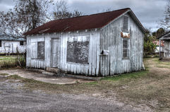 Abandoned Building. A HDR abandoned building in Golden Meadow, Louisiana Stock Photography