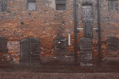 Abandoned building in the heart of the city.  Royalty Free Stock Photos