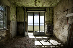 Abandoned building, interior Royalty Free Stock Images