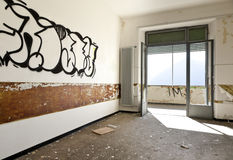 Abandoned building, interior Royalty Free Stock Photo