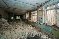 Abandoned Building Interior. Chernobyl Disasters Royalty Free Stock Photos