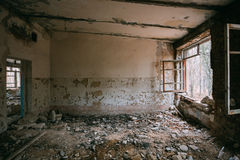 Abandoned Building Interior. Chernobyl Disasters Royalty Free Stock Photo