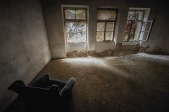Abandoned building interior Royalty Free Stock Photos
