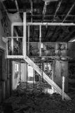 Abandoned building interior that is rotting away Stock Image