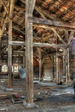 Abandoned Building Interior. Signs of the times, an old abandoned industrial building Royalty Free Stock Photo