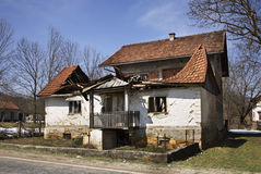 Abandoned building in Licko Petrovo Selo. Croatia Royalty Free Stock Images