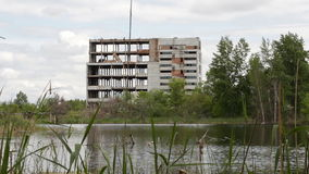 The abandoned building stock footage