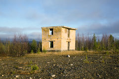 Abandoned building military ground control point Royalty Free Stock Photos