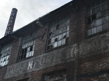 Abandoned building. Abandoned mill in Asheboro Royalty Free Stock Photo
