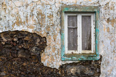 Abandoned building on the northern coast of Sao Miguel island Royalty Free Stock Photo