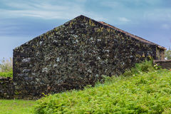 Abandoned building on the northern coast of Sao Miguel island Royalty Free Stock Image