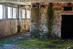 Abandoned building. Premises inside an abandoned factory Royalty Free Stock Photos