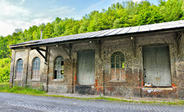 Abandoned building of a railway station Stock Image