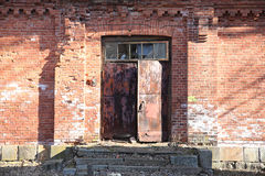 Abandoned building from red brick Stock Images