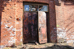 Abandoned building from red brick Royalty Free Stock Photo