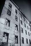 Abandoned building,ruin,. Rubble, poverty, criminality,agony Stock Photo