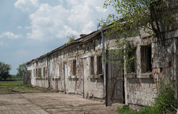 Abandoned building scene 4. Photos taken outside the city Stock Photography
