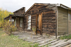 Abandoned building structures in nevada city montana Stock Image