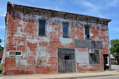 Abandoned Building. View of an abandoned building in Bridgewater, Iowa Stock Photography